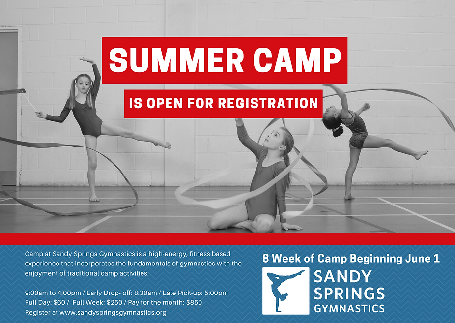Red and Blue Summer Camp Business Postca