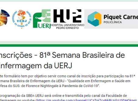 [INSCRIÇÕES] 81ª SEMANA BRASILEIRA DE ENFERMAGEM