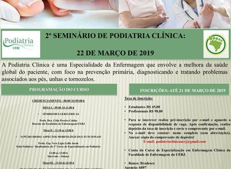 2º Seminário de Podiatria Clínica