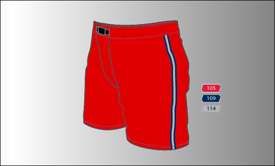 Pant Shell - Red - HR033