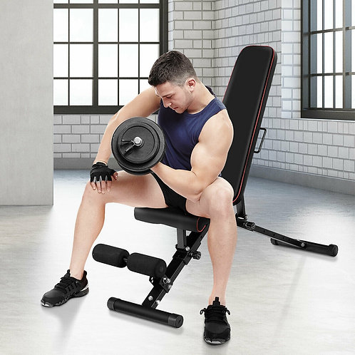 Adjustable Foldable Durable Compact Exercise Bench