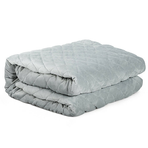 25 lbs Weighted Blanket 100% Cotton with Soft Crystal Cover