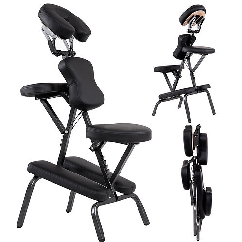 Leather Pad Travel Massage Chair with Carrying Bag