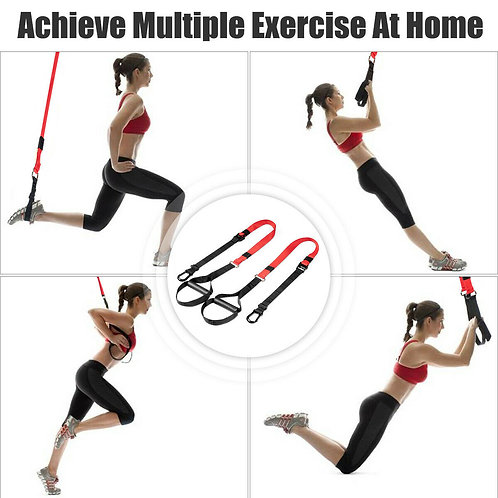 Bodyweight Fitness Resistance Straps Trainer with Adjustable Length