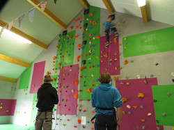 Scout Group on the climbing wall