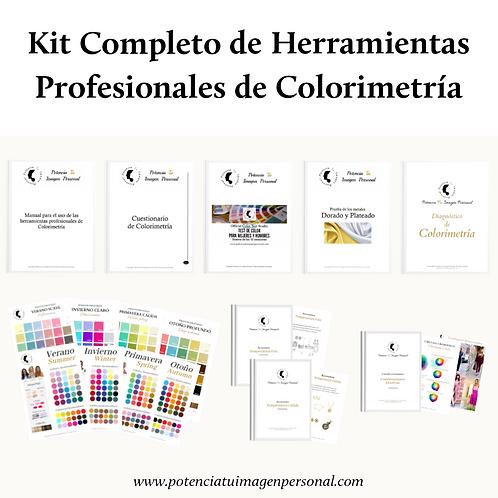 Kit Completo de Herramientas Profesionales de Colorimetría