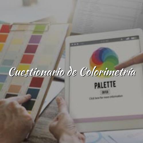 Cuestionario de Colorimetría
