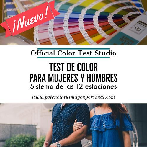 Test de colorimetría OFFICIAL COLOR TEST STUDIO