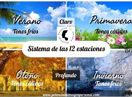 Teoría del color: Sistema de las 12 estaciones