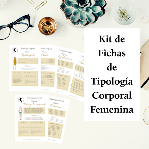 Kit de Fichas de Tipología Corporal Femenina