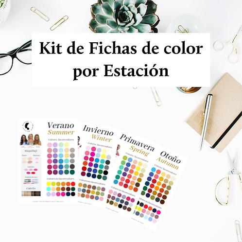 Kit de Fichas por Estación de Color