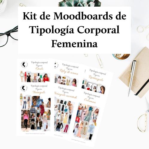 Kit de Moodboards de Tipología Corporal Femenina