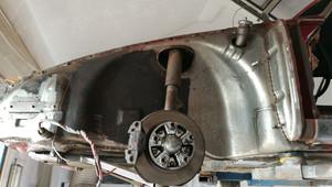 Trockeneisstrahlen am Porsche 912