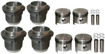 Big Bore Kolben Zylindersatz | geschmiedet | 92mm Bohrung | 69mm Hub | MAHLE