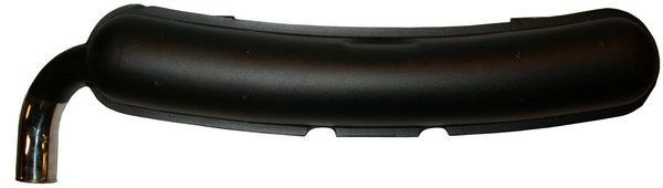Endschalldämpfer (beschichtet) für Porsche 911 F 2.0-2.4 70mm mit TÜV