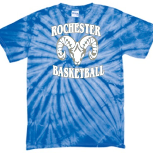 Royal Short Sleeve Tie Dye - Rochester Basketball