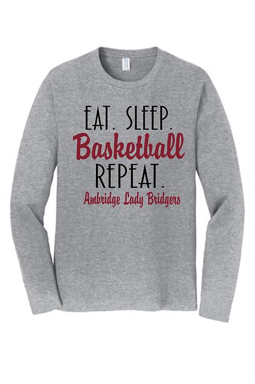 Eat Sleep Basketball LS - Ambridge Lady Bridgers Basketball