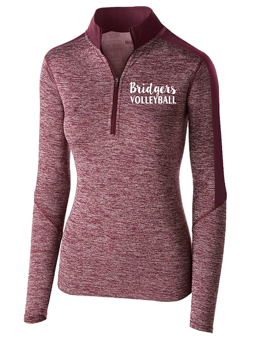 Ladies Electrify 1/2 Zip Pullover - Ambridge Volleyball
