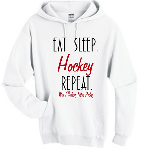 Eat Sleep Hockey Repeat Hoodie -  West Allegheny Inline