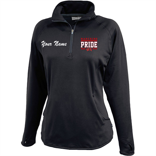 Womens Qtr Zip Pullover - West Allegheny Band