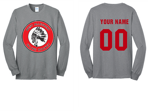 Long Sleeve T-Shirt  -  West Allegheny Inline Hockey