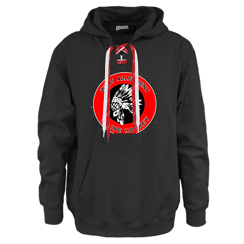 Hoodie with laces  -  West Allegheny Inline Hocke