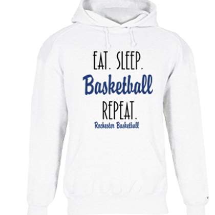 Eat Sleep Basketball Repeat Hoodie - Rochester Basketball