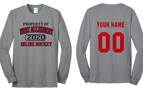 Long Sleeve Property of  West Allegheny Inline Hockey