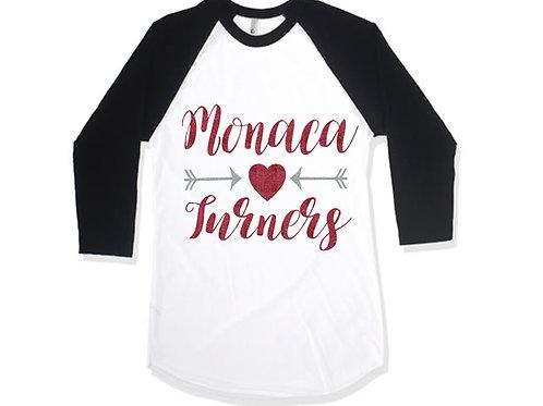 Black and White Raglan - Monaca Turners
