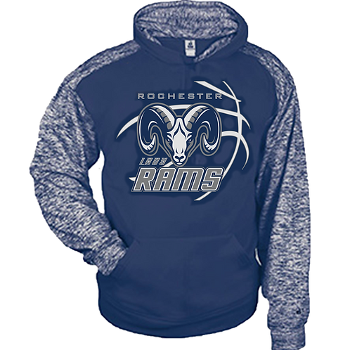 Two Tone Blend Dri-Fit Hoodie - Rochester Basketball