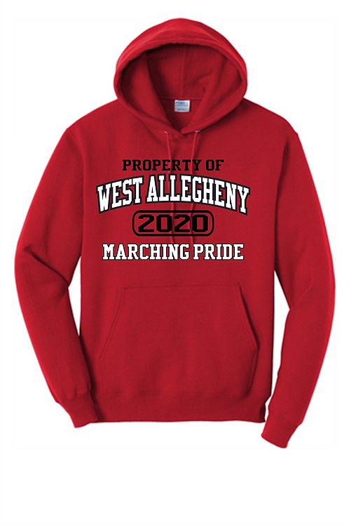 Hoodie Property of  -  West Allegheny Band
