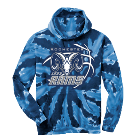 Tie Dye Hoodie - Rochester Basketball