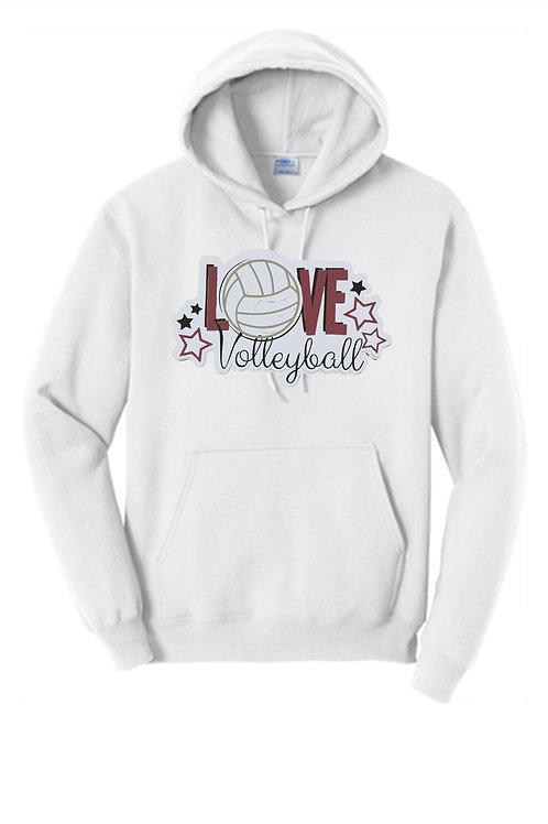 Hoodie LOVE Volleyball -  Ambridge Volleyball
