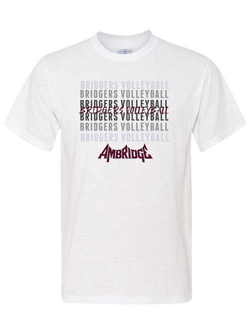 Ambridge Volleyball Fade in Logo Tee