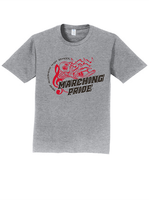 Short Sleeve T-Shirt Marching Pride Instruments -  West Allegheny Band