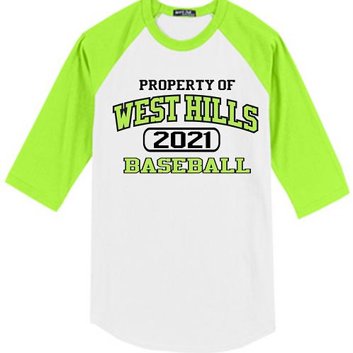 Property of West Hills Baseball Raglan