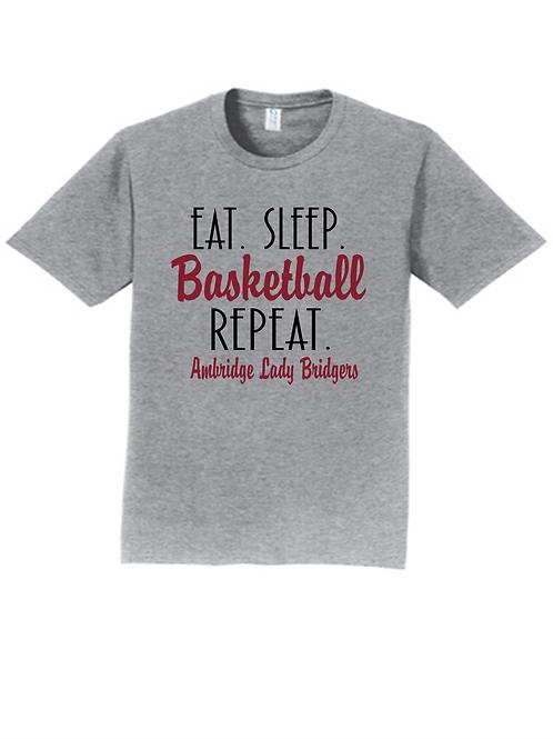 Eat Sleep Basketball Repeat SS - Ambridge Lady Bridgers Basketball