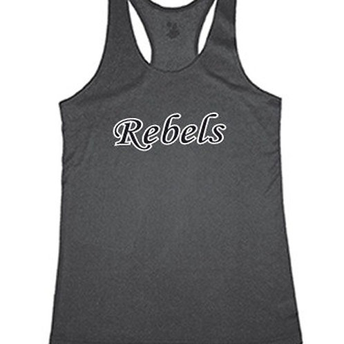 Ladies Pro-Heather Racer Tank- Rebels Softball