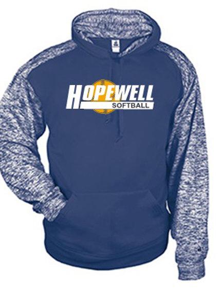 Two Tone Blend Dri-Fit Hoodie - Hopewell Softball