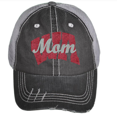 WA Mom Distressed Baseball Cap