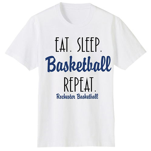 Eat Sleep Basketball Repeat SS T-Shirt - Rochester Basketball