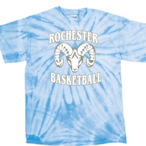 Light Blue Short Sleeve Tie Dye - Rochester Basketball