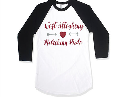 Black and White Raglan - West Allegheny Band