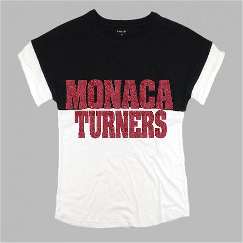 Two Tone Short Sleeve Pom Pom - Monaca Turners