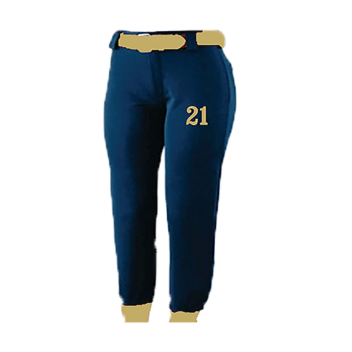 Belted Uniform Pants