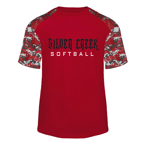 Camo Blend Short Sleeve - Silver Creek Softball