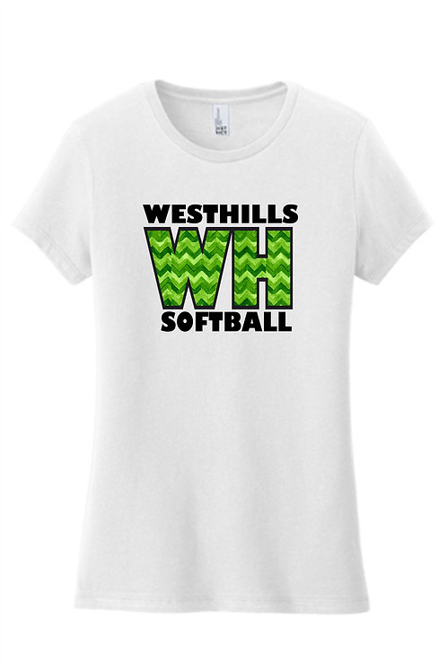Women's Fit Chevron SS T-Shirt -  West Hills Softball