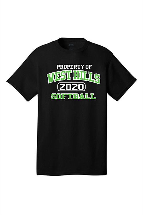 Property of West Hills Softball SS Tee Black