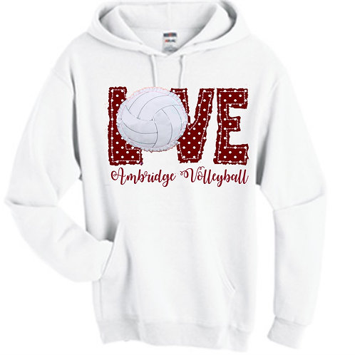 Hoodie Raggy LOVE Volleyball -  Ambridge Volleyball