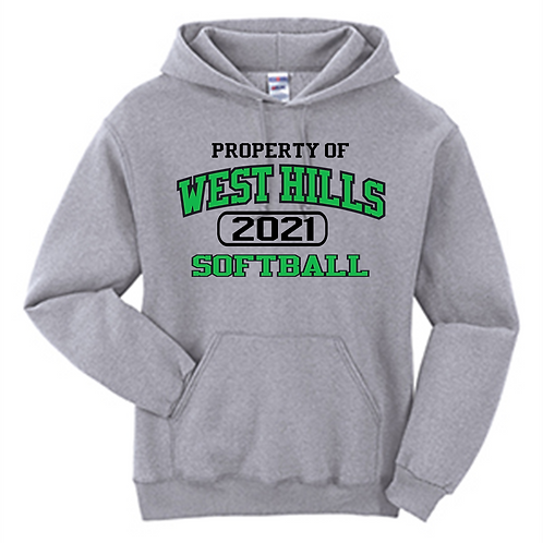 Property of West Hills Softball Hoodie - West Hills Softball